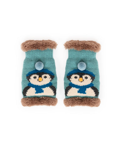 Cosy Penguine Wrist Warmers - Ice