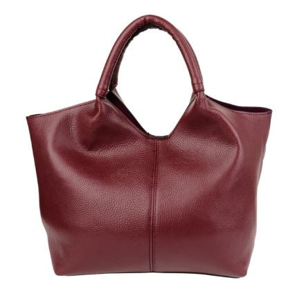 Cora bag in Burgundy - medium size tote bag