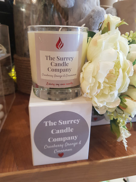 The Surrey Candle Co - 30cl Cranberry, Orange & Cinnamon