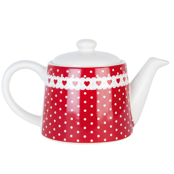 Red Spotted Teapot