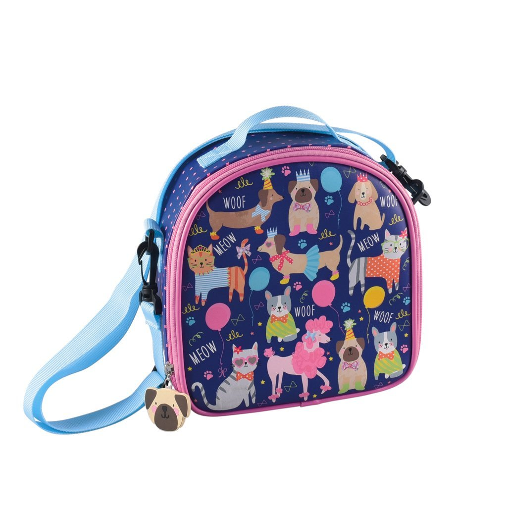 LUNCH BAG WITH DETACHABLE STRAP PETS