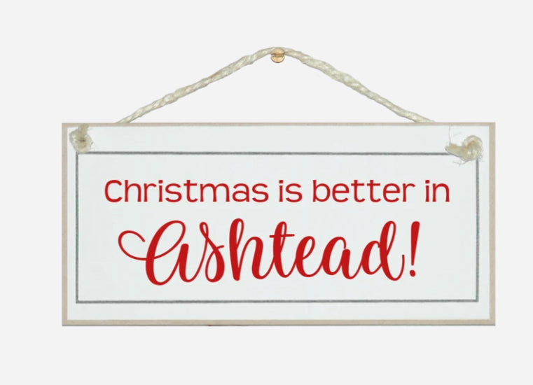 Bespoke 'Christmas In' Sign