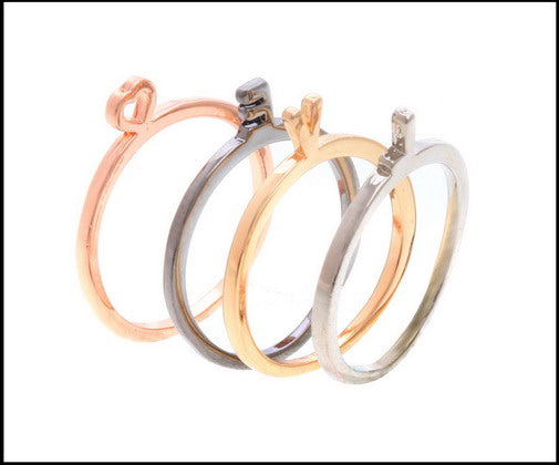 LOVE Set of 4 ring set