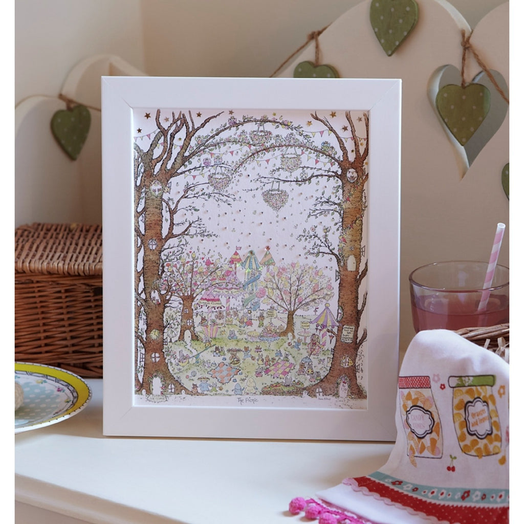 Porch Fairies Small Frame Picture - The Picnic