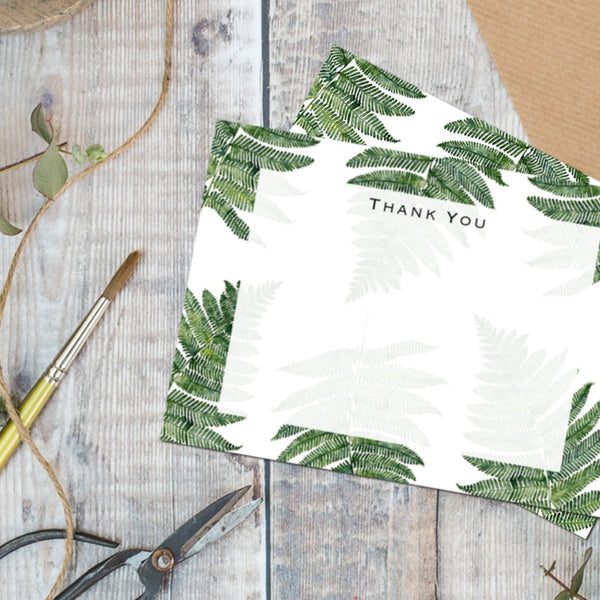 Woodland Fern - Set of 6 Thank You Cards