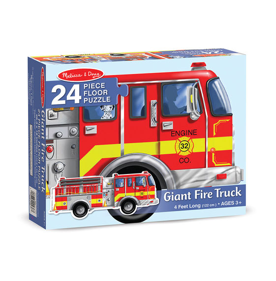 giant fire engine 24 piece puzzle