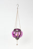 Hanging Tealight Holder With Metal Work - 3 Colours