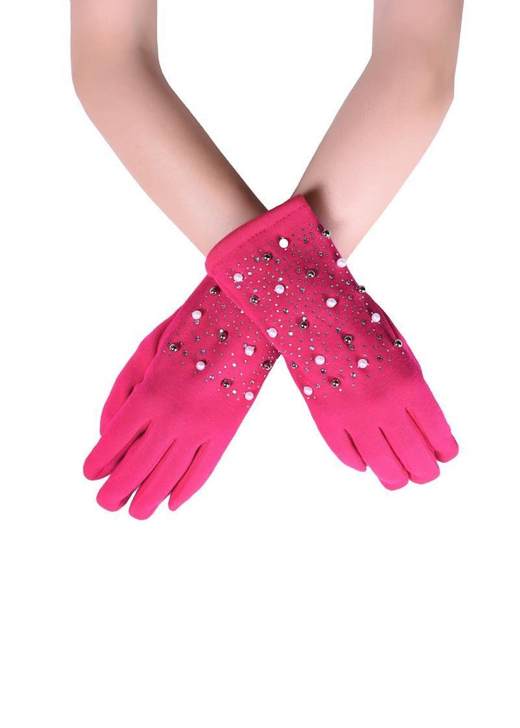 Pearl & Diamante Gloves