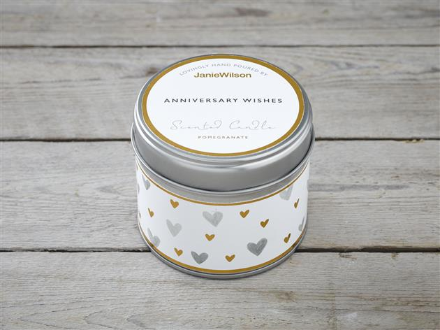 Anniversary Wishes-Pomegranite Candle
