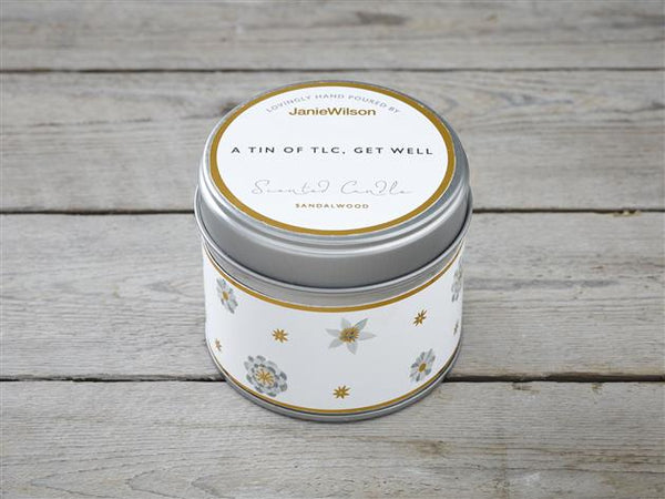 A Tin Of TLC, Get Well-Sandalwood Candle