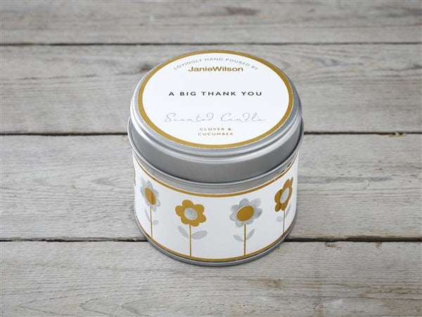 A Big Thank You-Clover & Cucumber Candle