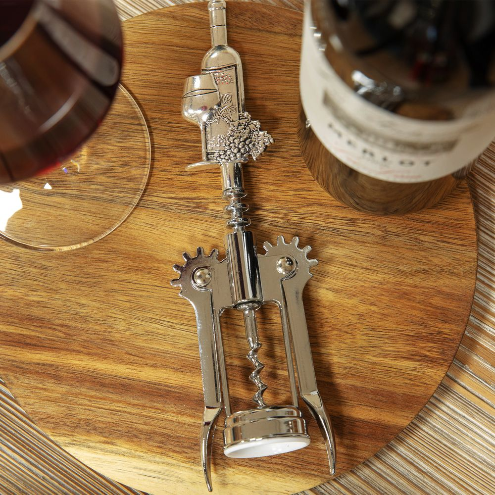 STAINLESS STEEL WINGED CORKSCREW
