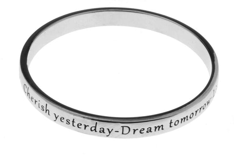 Cherish Yesterday - Dream Today silver bracelet