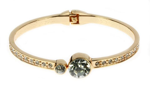 Rose Gold Large Diamante Split Bangle