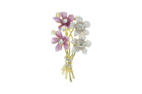 Flower Bunch brooch with 4 flowers