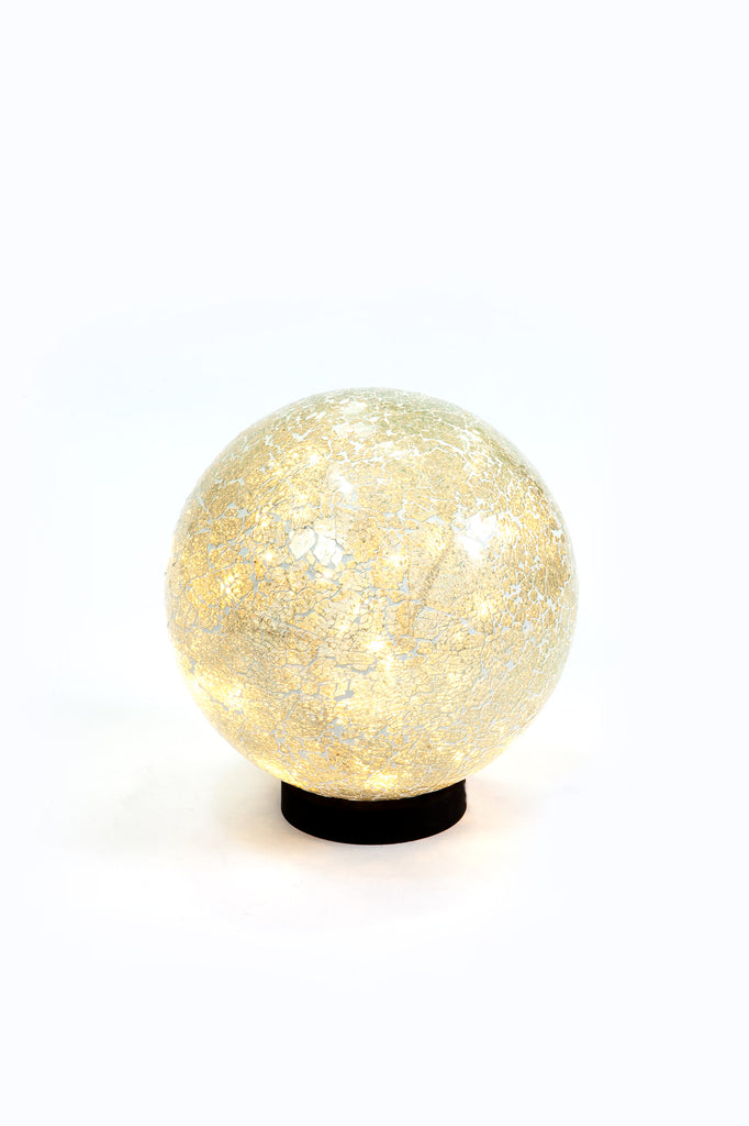 Ivory Mosaic Illuminated Ball