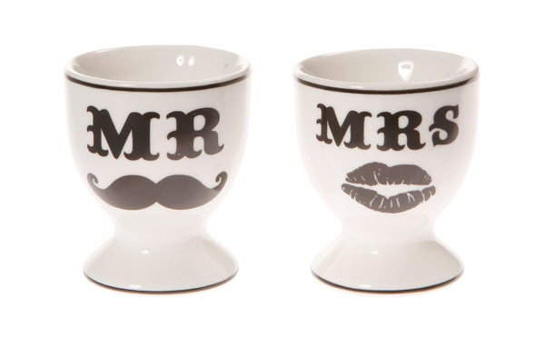 Set of 2 Mr & Mrs Egg Cups