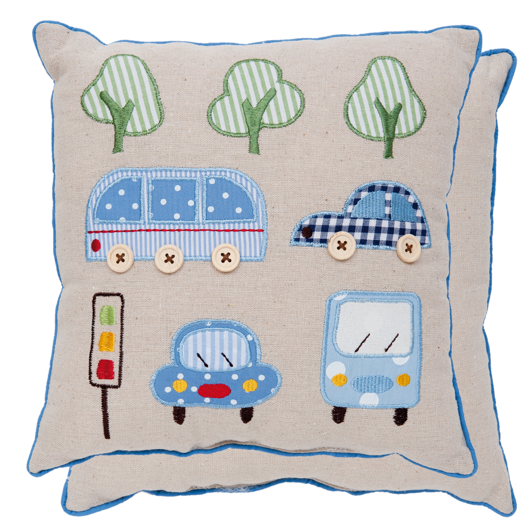 Little Blue Button Cushion