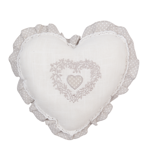 33x33cm Heart Shape White Fill Cushion