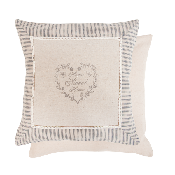 40x40cm Shabby Chic Heart Home Sweet Home Cushion Cover
