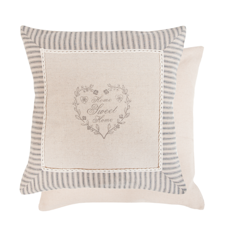 40x40cm Shabby Chic Heart Home Sweet Home Cushion
