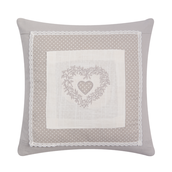 40x40cm Shabby Chic Heart Cushion Cover
