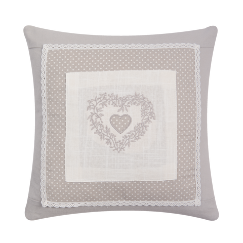 40x40cm Shabby Chic Heart Cushion