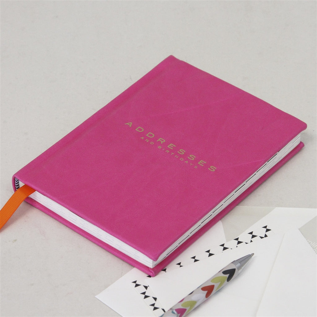 Pink Leatherette Address Book