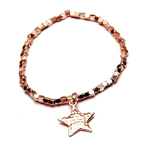 Matt Rose Gold Star Bracelet