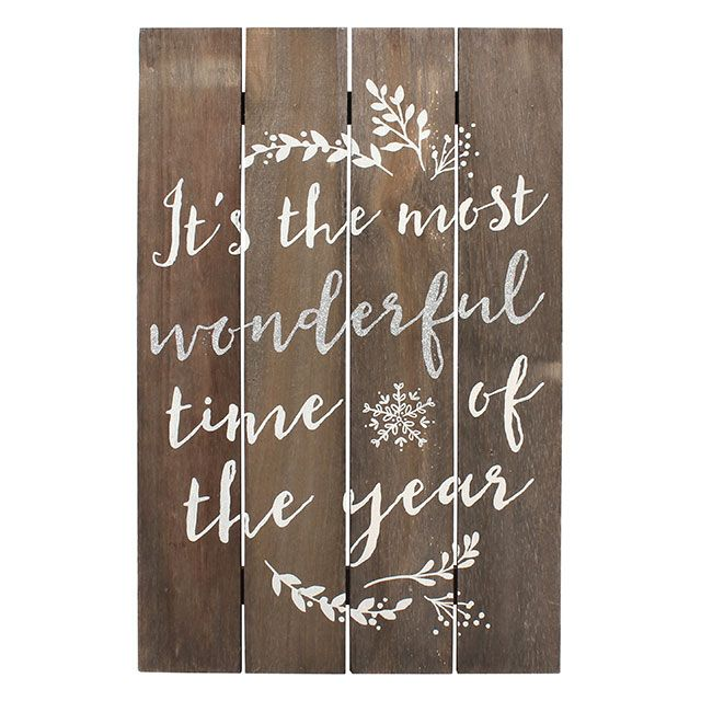 Most Wonderful Time Wooden Sign