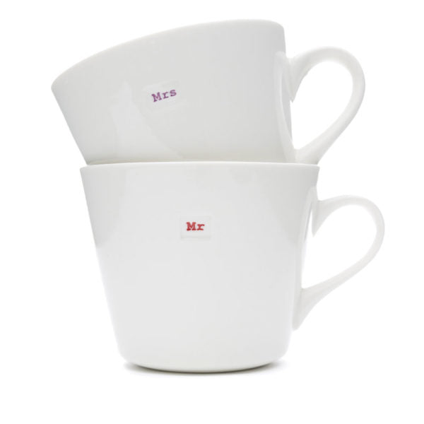 Standard Bucket Mug Set- Mr & Mrs