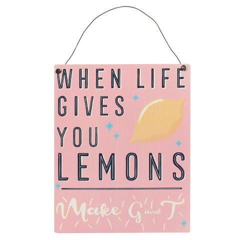 LEMONS WALL PLAQUE