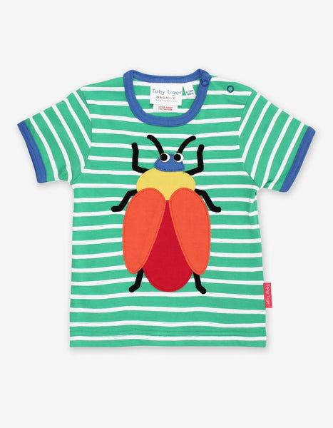 Organic Beetle Applique T-Shirt