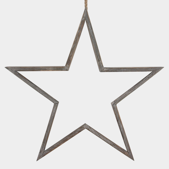 Large Outline Star Decoration