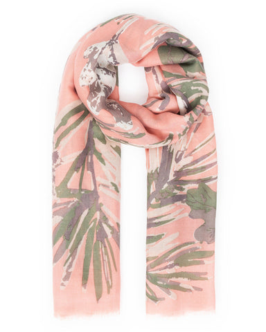 Winter Finches Print Scarf