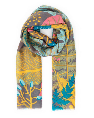 Winter Garden Print Scarf