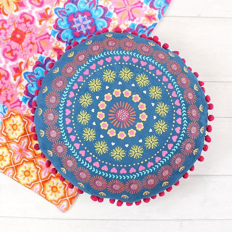 Printed Round Cushion