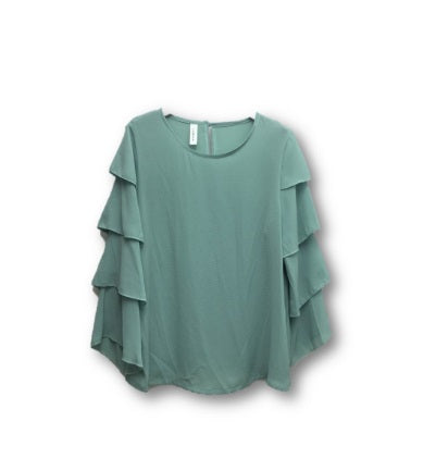 Ruffle Sleeve Blouse - One Size