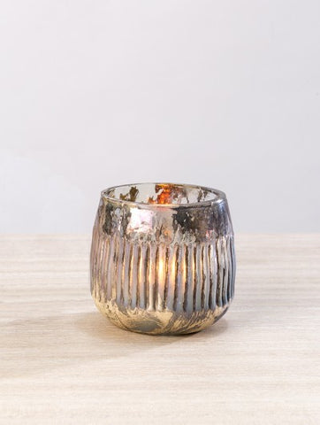 Rainbow Luster Ribbed Tea Light