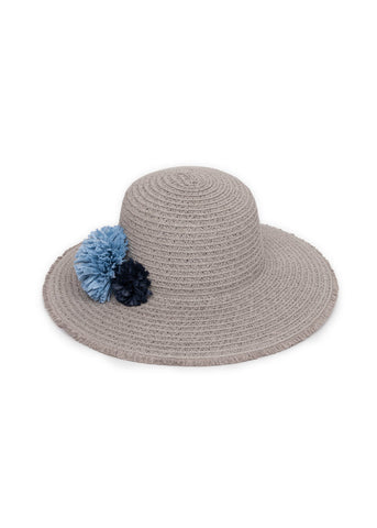 Selma Grey Summer Hat