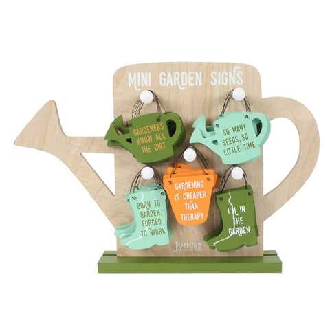 Mini Garden Wooden signs 5 options