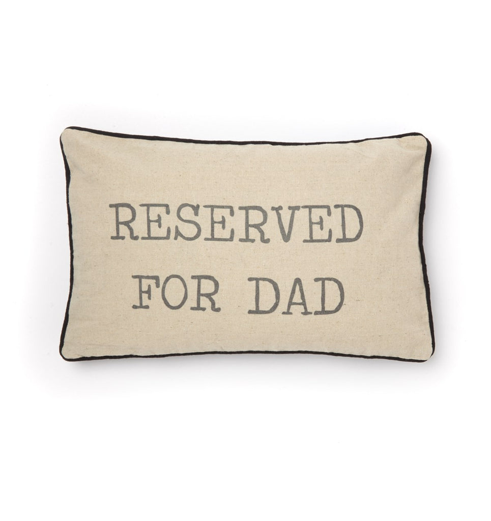 reserved for dad printed cushion