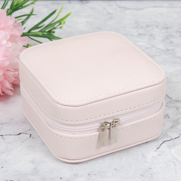 SOPHIA® SMALL LEATHERETTE JEWELLERY BOX - BLUSH