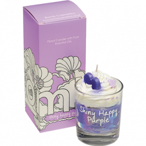 Shiny Happy Purple Piped CANDLE