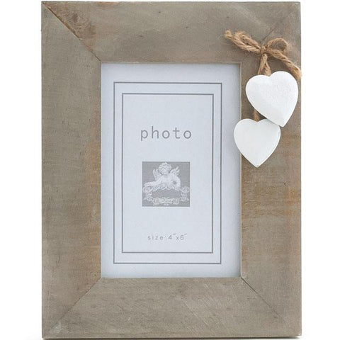Single White Heart Frame