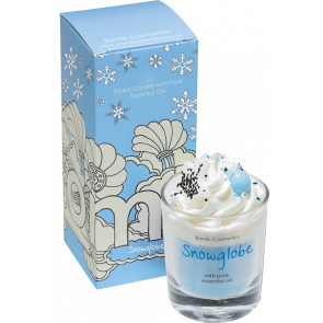 Snowglobe Piped Candle