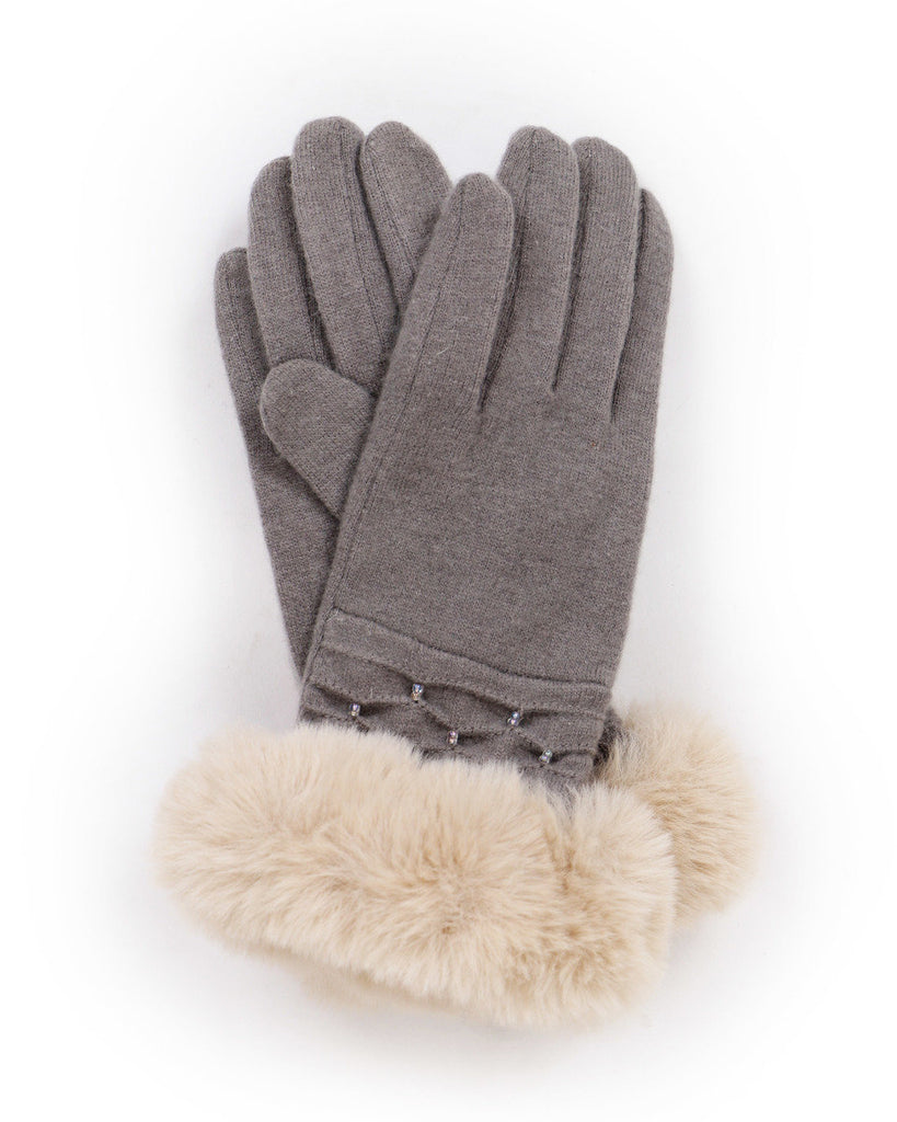 Tamara Wool Gloves - Slate