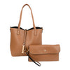 Tan Leather reversible tote bag