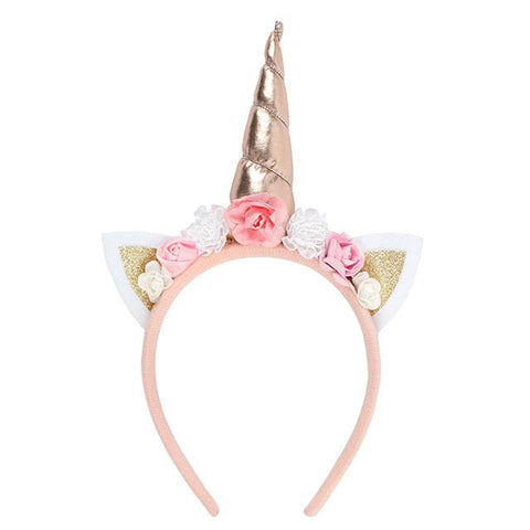 Rose Gold Unicorn Headband