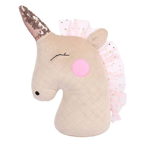 Blush Unicorn Doorstop